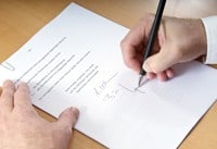 Kreditvertrag unterschreiben