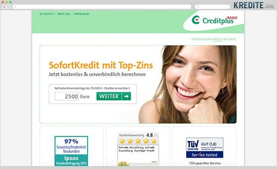 Sofortkredit von Creditplus