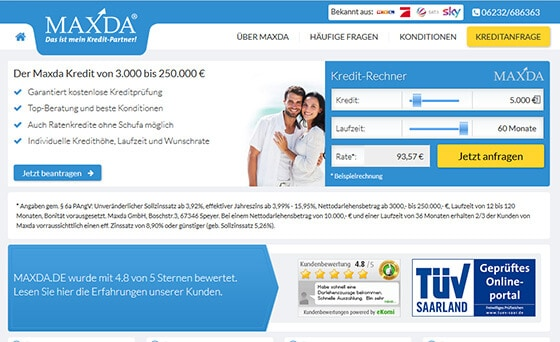 Maxda verfügt über ein umfangreiches Netzwerk an Kreditgebern.