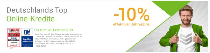 Smava Negativzins -10% 3.2019