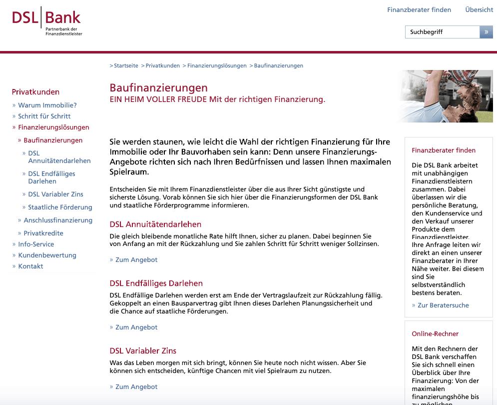 DSL Bank Immobilienfinanzierung