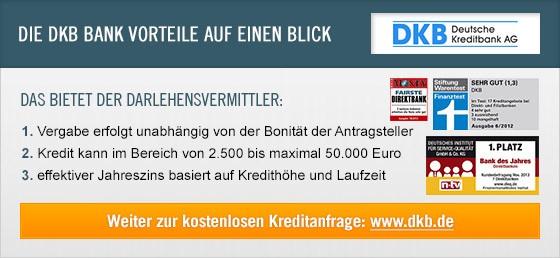 Kredit Erfahrungen zu DKB Bank