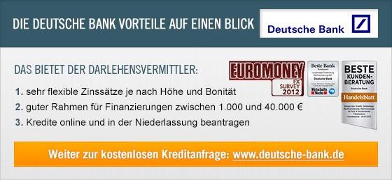 Kredit Erfahrungen zu DeutscheBank
