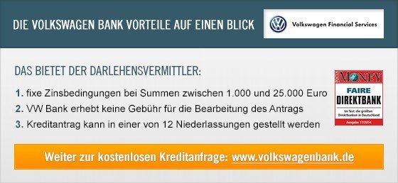 Kredit Erfahrungen zu VolkswagenBank