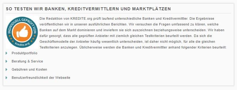 So testen wir Banken, Kreditvermittler und Marktplätze - Lendico Kredit Erfahrungen