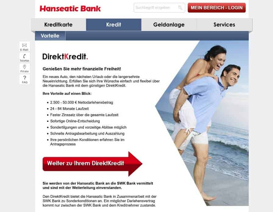 Hanseatic Bank Privatkredit