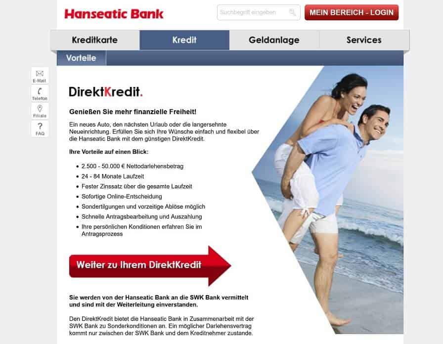 Hanseatic Bank Privatkredit