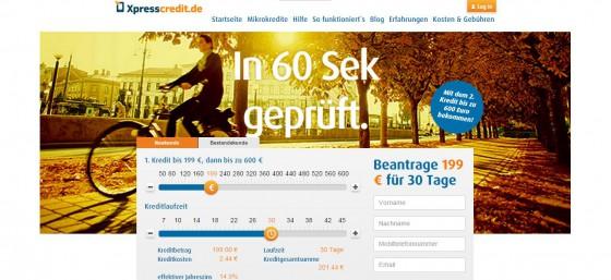 screenshot-expresscredit-startseite
