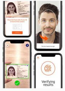 VideoIdent Verifizierung IDnow Gesicht Ausweis