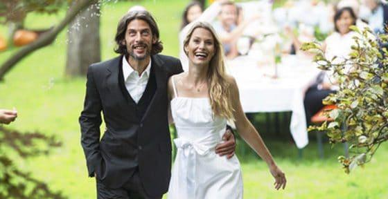 Gartenparty, Hochzeit, Familie, Freunde, Kinder