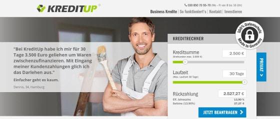 screenshot_kreditup-startseite