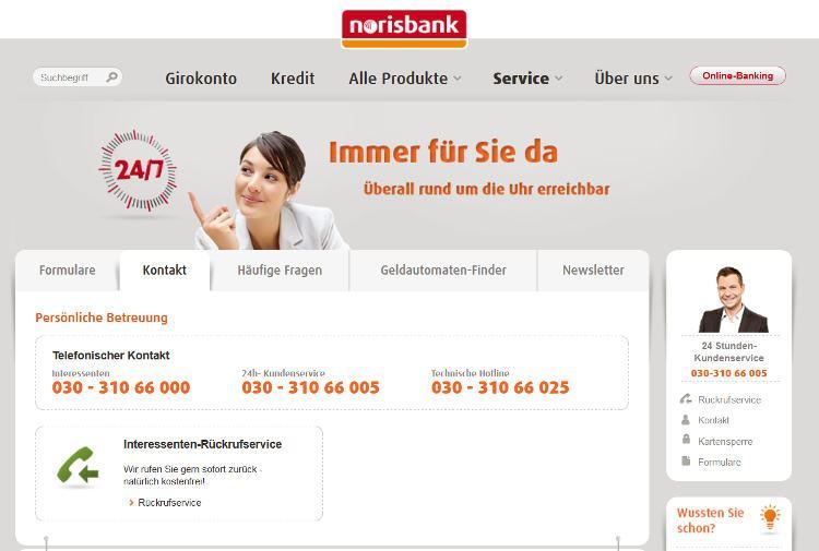 Der Kundensupport der Norisbank