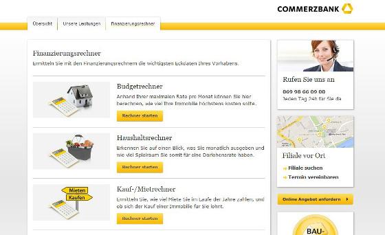 Commerzbank Immobilienfinanzierung Erfahrungen - Kreditangebot im Test