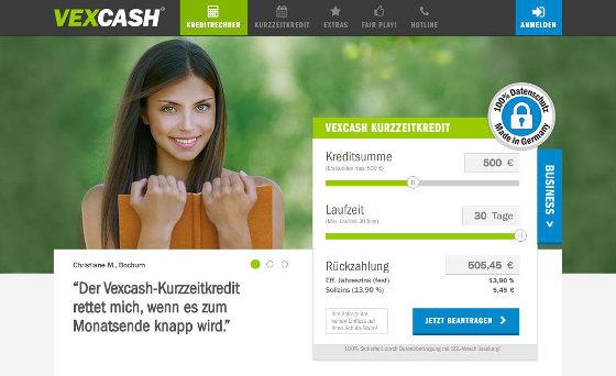 Zwar kann es auch passieren, dass Vexcash den Kredit absagt, aber die Wahrscheinlichkeit ist relativ gering, sofern ein Einkommen vorhanden ist.