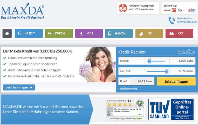 Maxda hat sich als Kreditvermittler auf schwierige Fälle spezialisiert.