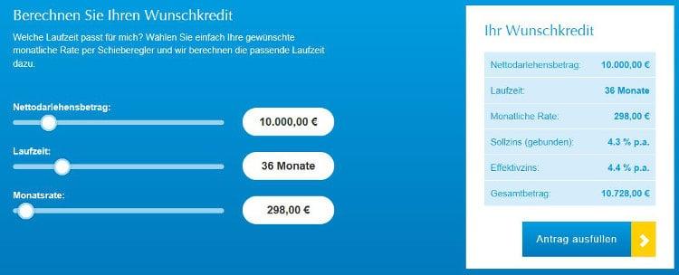 Der SKG Bank Kreditrechner