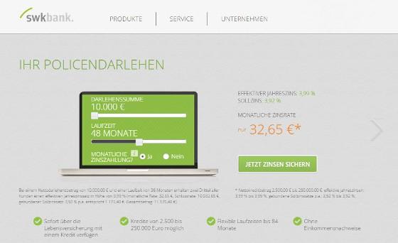 screenshot_swk-bank-policendarlehen-startseite