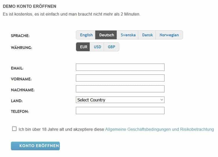 Binäre Option Demo-Konto Löwenstein