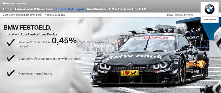 BMW Bank Festgeld Erfahrungen & Test 2017