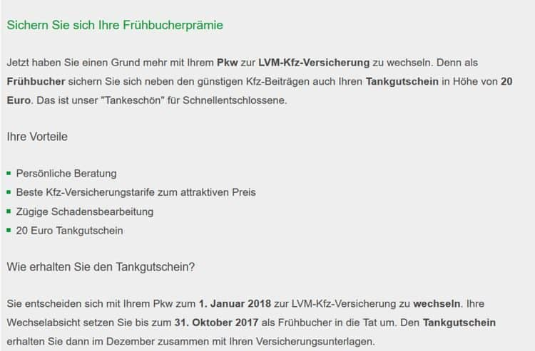 LVM-Frühbucherpraemie