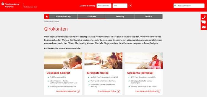 Sparkasse Internetseite