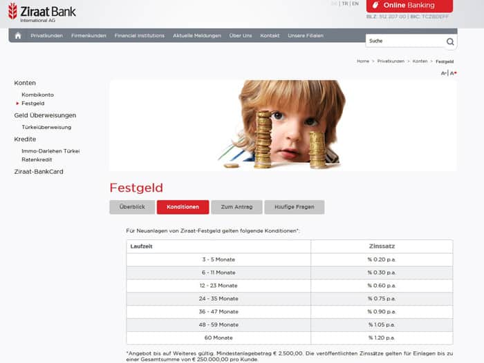 Ziraat Bank Festgeld Erfahrungen Test 2020