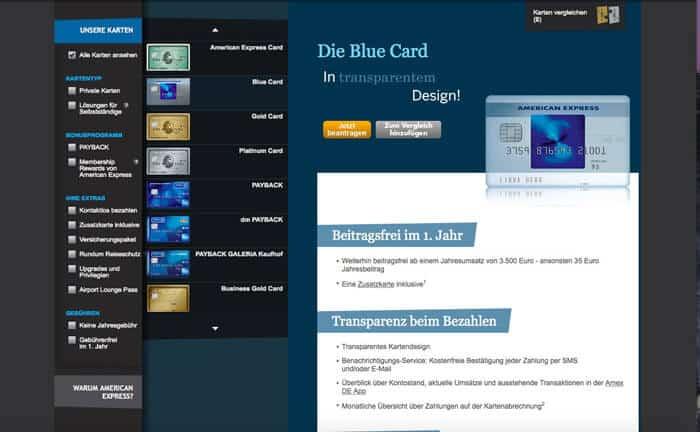 American Express Card Blue Erfahrungen