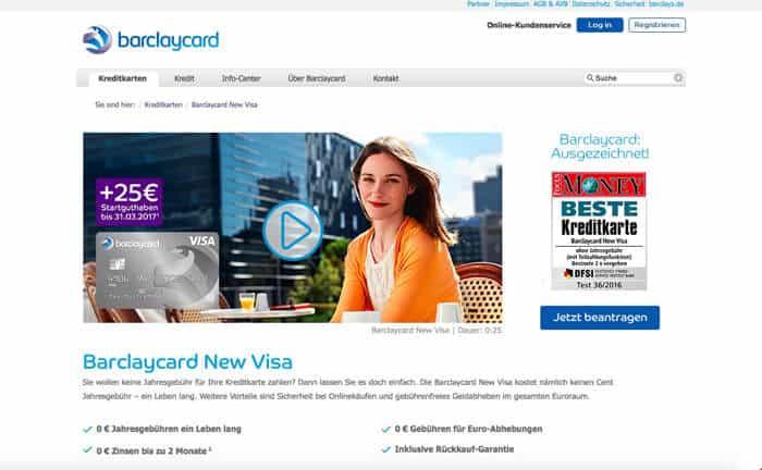 Barclaycard New Visa Erfahrungen