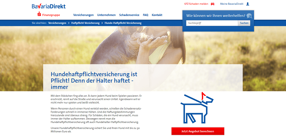BavariaDirekt Versicherung Website