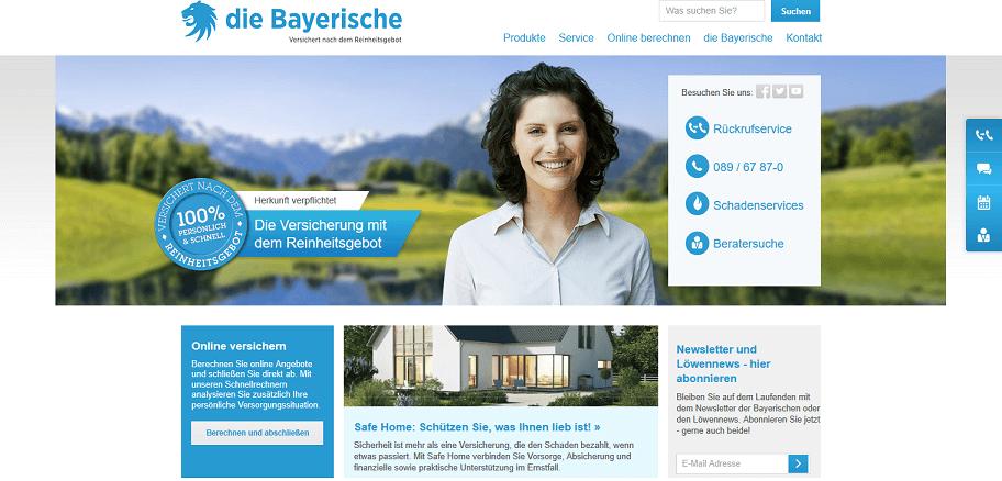 Bayerische Versicherung Website