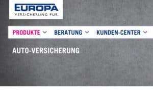 Europa KFZ-Versicherung