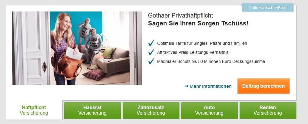Gothaer privathaftpflicht single versicherung