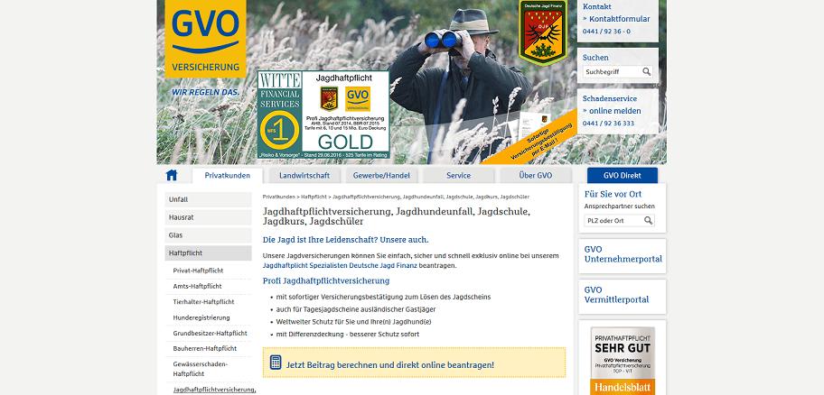 GVO Jagdhaftpflicht-Versicherung
