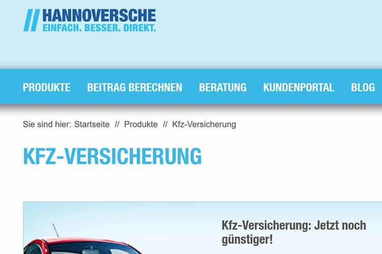 Hannoversche Kfz Versicherung Test Erfahrungen