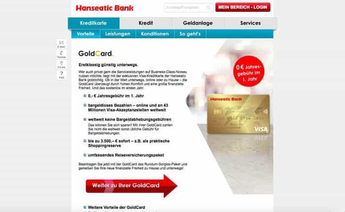 hanseatic bank goldcard erfahrungen test. Black Bedroom Furniture Sets. Home Design Ideas