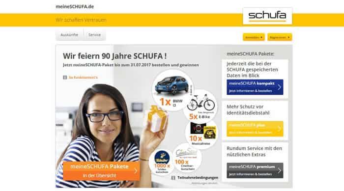 Bei meineSchufa.de können Verbraucher gegen einen kostenpflichtigen Zugang ihren Schufa Score ständig überprüfen.