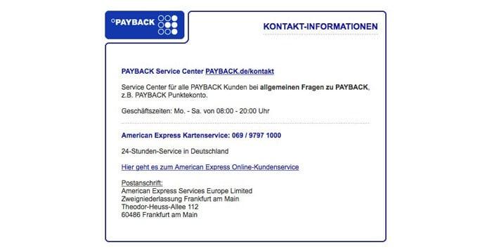 Payback Kundenkontakt