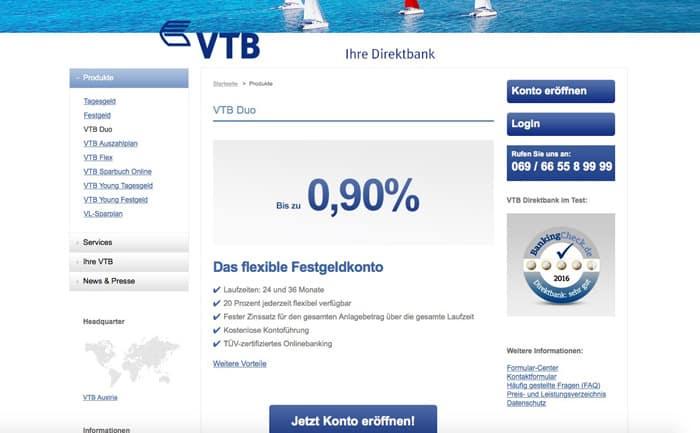 VTB Direktbank Duo Erfahrungen