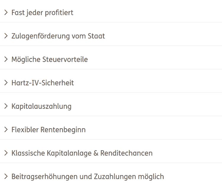Ergo Riester-Rente-Vorteile