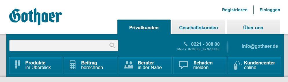 Gothaer Hausratversicherung Startseite