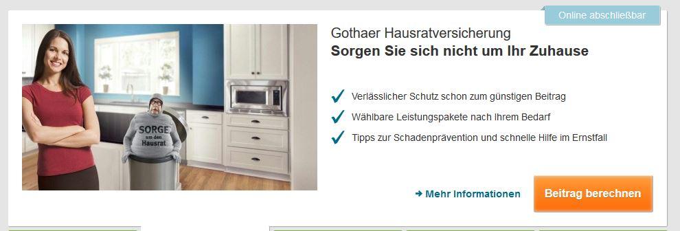 Gothaer Hausratversicherung