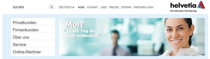 Helvetia Private Haftpflichtversicherung Startseite