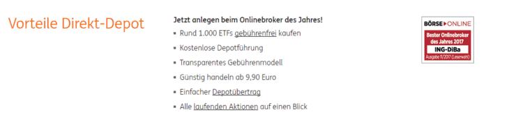 Das Wertpapierdepot Der Ing Diba Der Online Broker Im Test