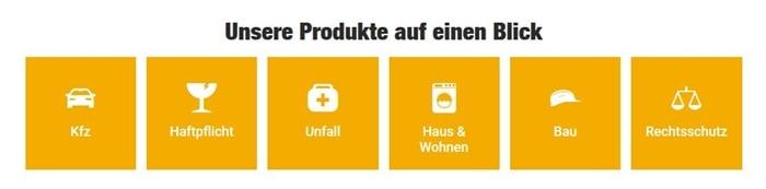 VHV Hausratversicherung Produktübersicht