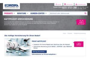 EUROPA Privathaftpflichtversicherung