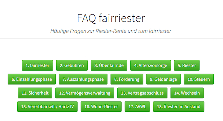 Fairr Riester Test
