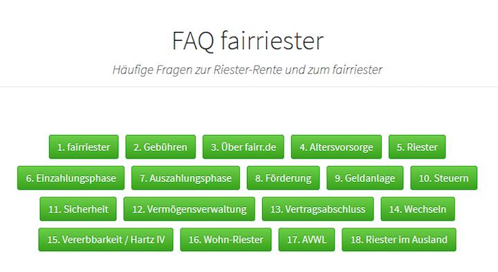 Fairr Riester Test