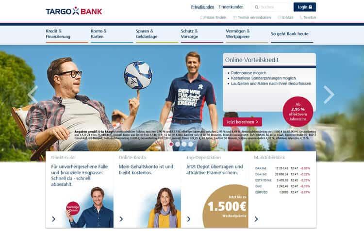 Übersicht Targobank Produktangebot