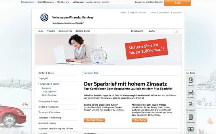 Volkswagen Bank Sparbrief Erfahrungen