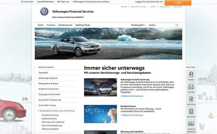 Volkswagen Bank Versicherungen